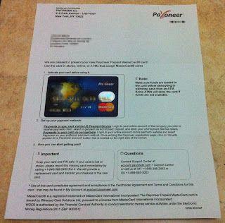 Tarjeta Prepago Payoneer MasterCard, Como Retirar Dinero de Paypal ~ VIDAGNU