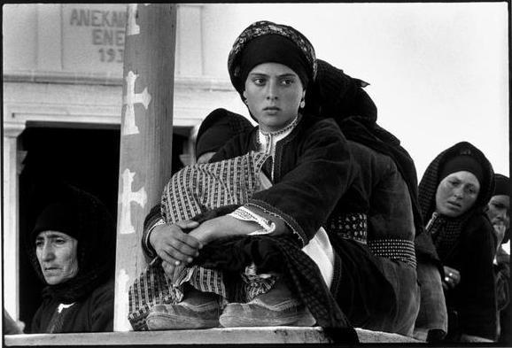 Constantine Manos GREECE. 1964. Karpathos. Olympos. Watching the dance