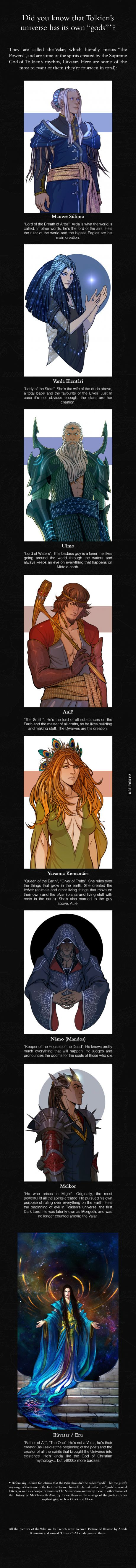 Let me introduce you to The Valar (From J.R.R. Tolkien Mythos)