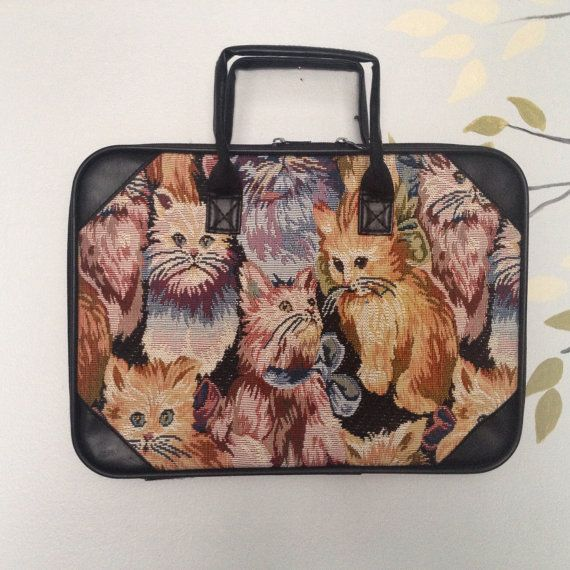 Cat Tapestry Laptop Computer Bag - Kitty Tapestry…