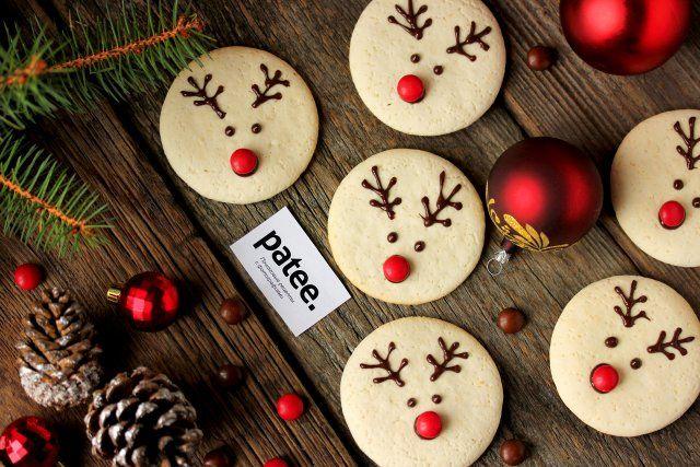 Новогоднее печенье Олени