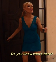 Gretchen Rossi's Blue Lace Bachelorette Party Dress & Earrings http://www.bigblondehair.com/real-housewives/rhoc/gretchen-rossis-blue-lace-dress-earrings-in-mexico/