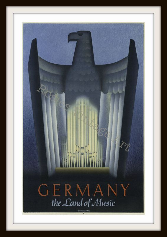Vintage Travel Poster  Germany Land of by RosiesVintagePrints, $25.00