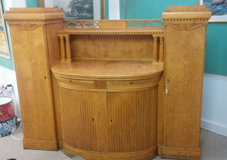 We have a new addition to the shop. Check out this impressive Biedermeier sideboard. This will look stunning once it's been polished up!