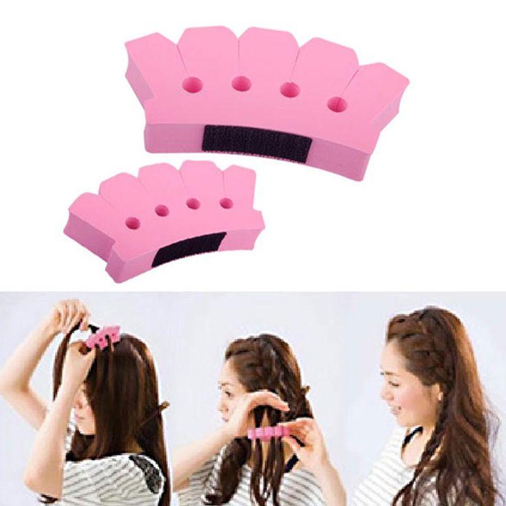Sponge Twist Styling Hair Braider Braid Tool Holder Clip DIY French Grace Hair Styling Tool