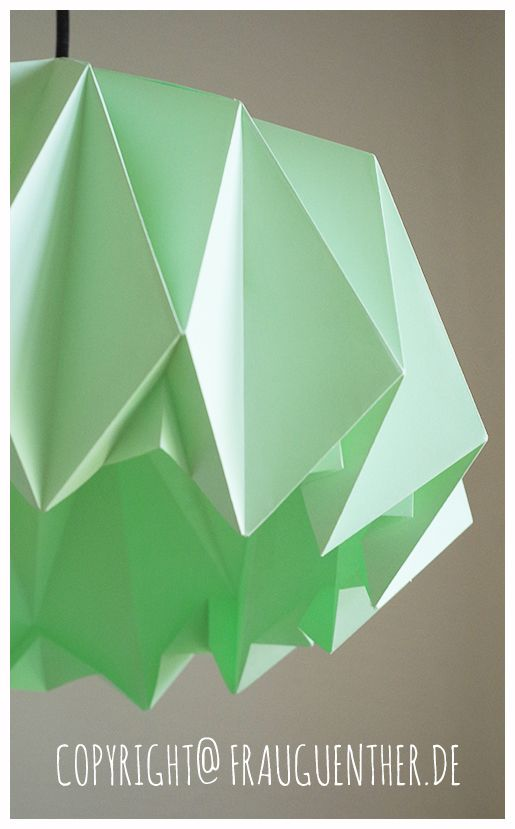DIY  Origami Papierlampe 3 ° Origami Paper Lamp 3 Tutorial / Anleitung unter: http://www.frauguenther.de/2014/05/diy-origami-papierlampe-3-origami-paper.html