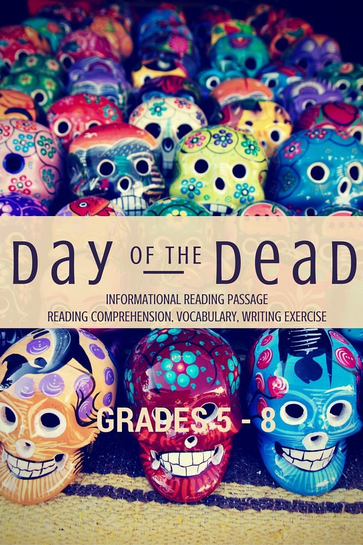 Fall Informational Reading – Day of the Dead. Reading comprehension, vocabulary, writing exercise. $
