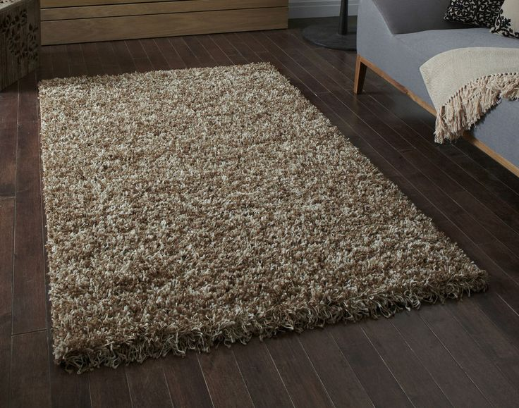 "BARGAIN Beige /Cream mottled effect Shaggy Rug 120x170cm (5'7""x4'0"") 5  