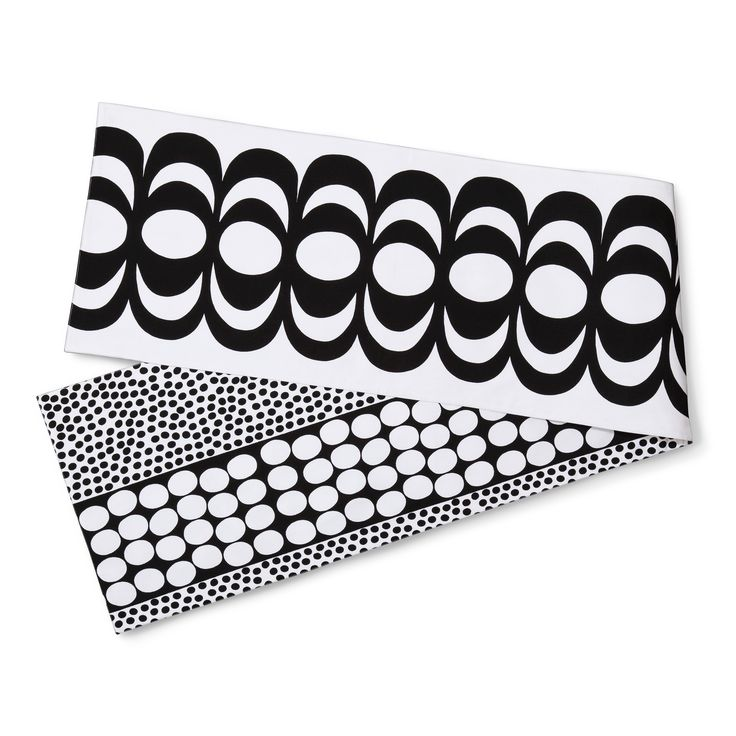 Reversible Table Runner - Kaivo & Meteori Print - Black - Marimekko for Target