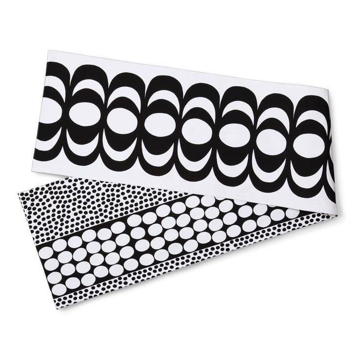 Reversible Table Runner - Kaivo & Meteori Print - Black - Marimekko for Target