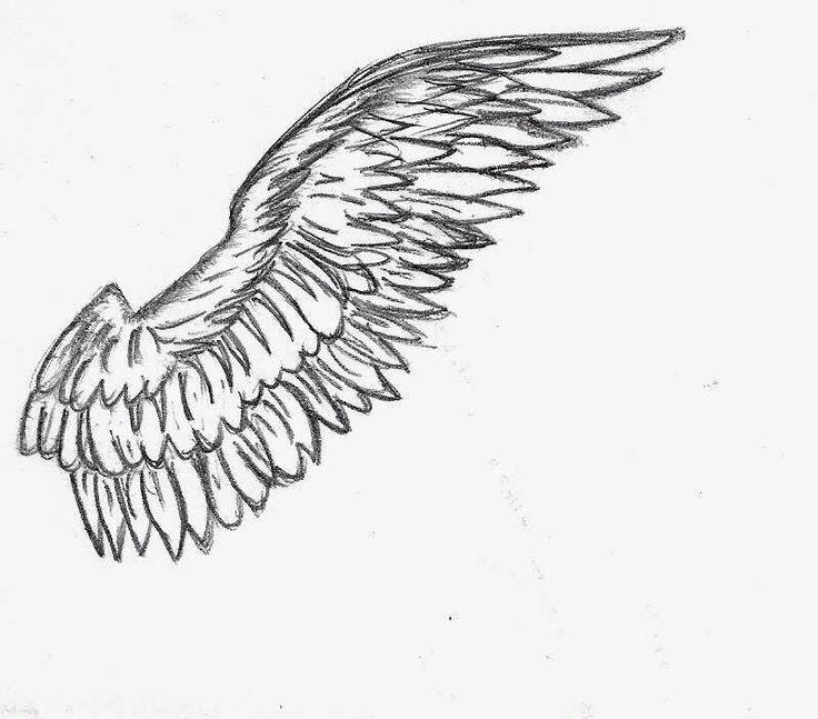 сердце крылья рисунок карандашом релюшки