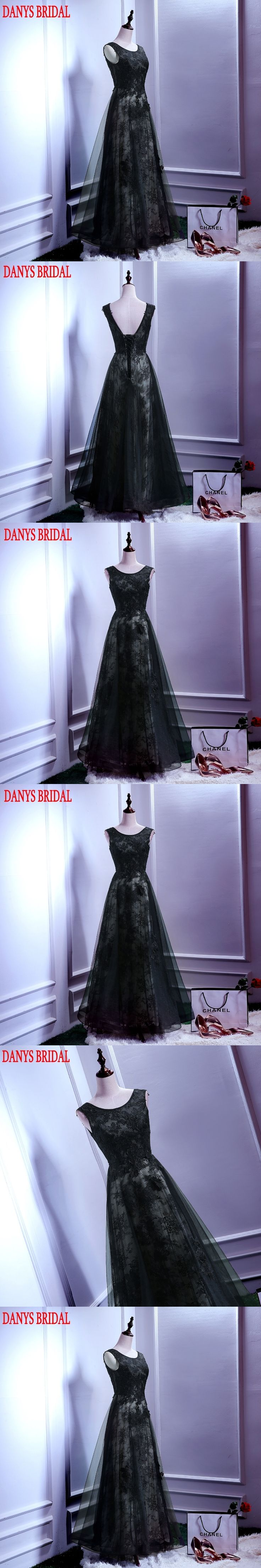 Black Long Lace Evening Dresses Party A Line Beautiful Women Sexy Backless Prom Formal Evening Gowns Dresses On Sale