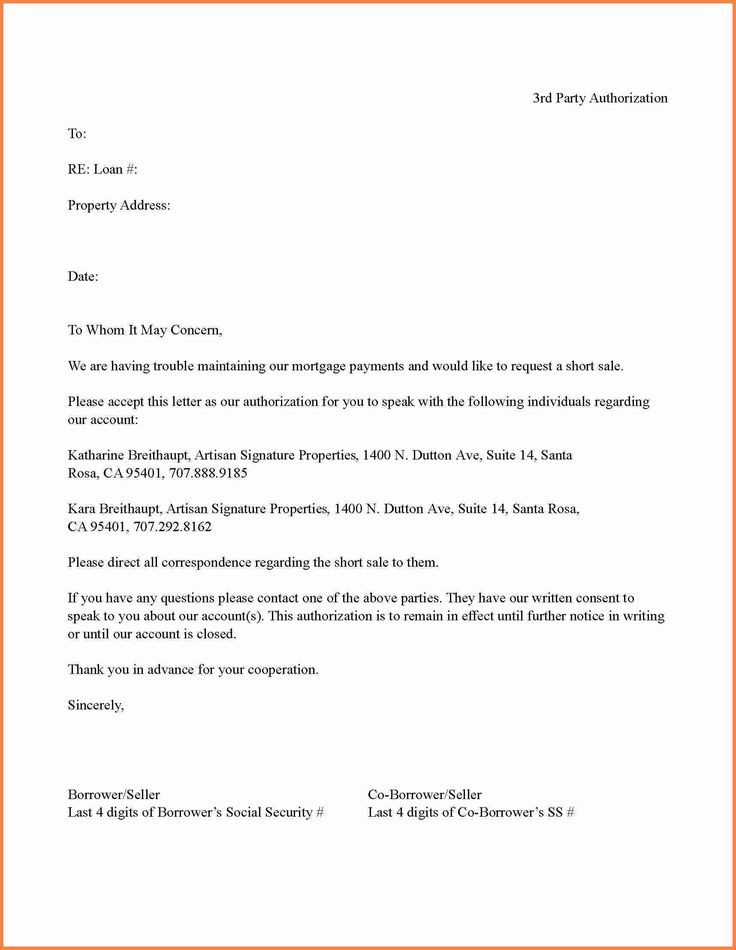 Bpi Authorization Letter Third Party Sample Printable  Home