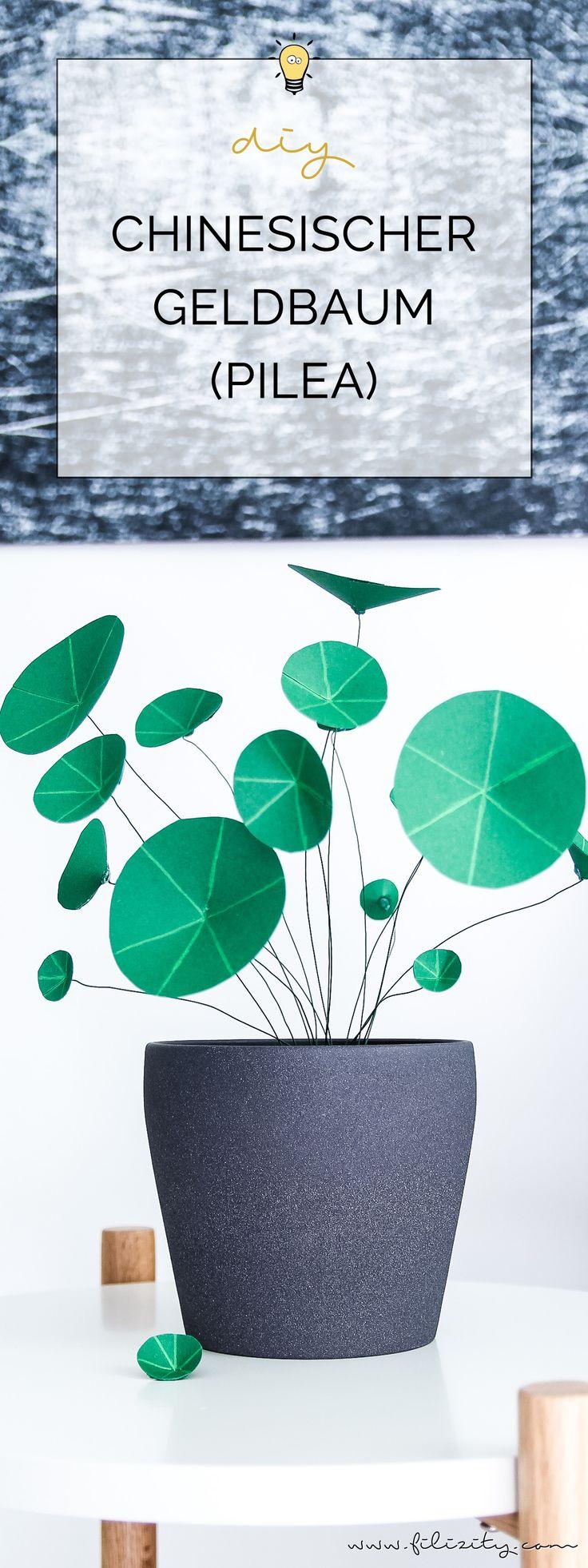 DIY Kunstpflanzen aus Papier: Chinesischer Geldbaum (Ufopflanze) selbermachen | Filizity.com | DIY-Blog aus dem Rheinland #pilea