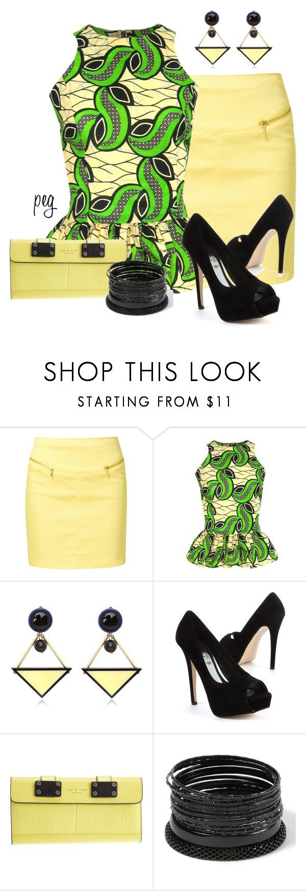 """Peplum Tops"" by derniers ❤ liked on Polyvore featuring Vero Moda, FAIR+true, Marni and rag & bone"