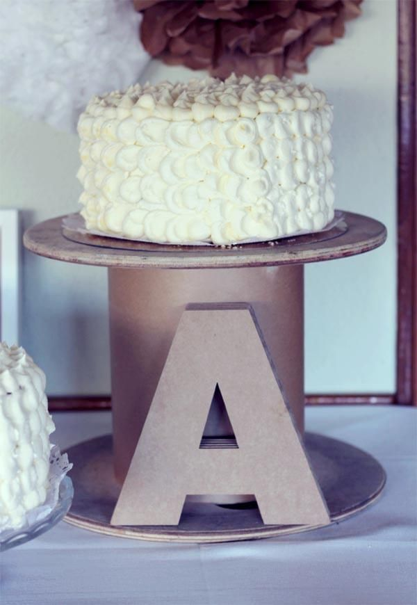 letter for decoration and cake