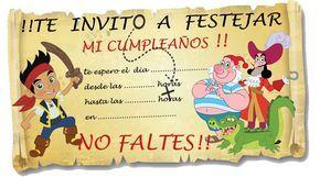 Tarjetas De Invitacion A Cumpleaños De Jake Y Los Piratas Para Ver Desde El Celular E Imprimir Grati HD Wallpapers