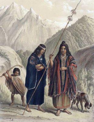 1848. Familia Mapuche Artista: Claudio Gay Año: 1848