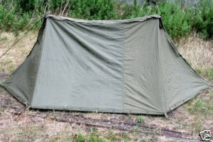 US Army Surplus Pup Tent Complete 2 Halves Canvas Nice - for the boys:)