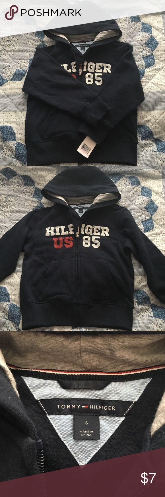 Timmy Hilfiger Navy Hoodie Toddler Very warm hoodie. Tommy Hilfiger Shirts & Tops Sweatshirts & Hoodies