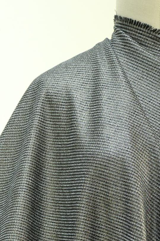 Pewter Houndstooth Stretch Woven