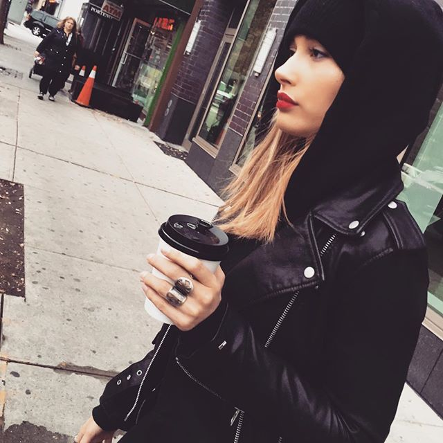 Model Must-Have: A Leather Jacket - Hailey Baldwin-Wmag