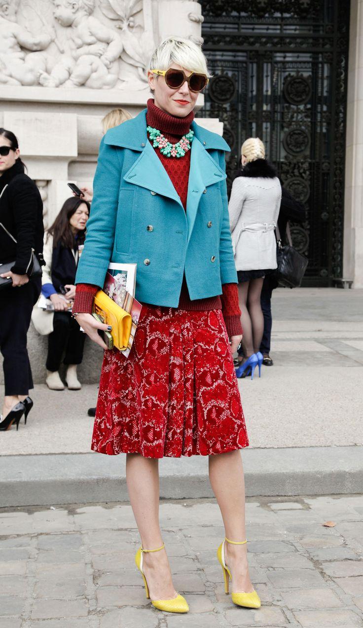Elisa Nalin always elegantly layered, Paris-Milan-Fashion-Week-FW12