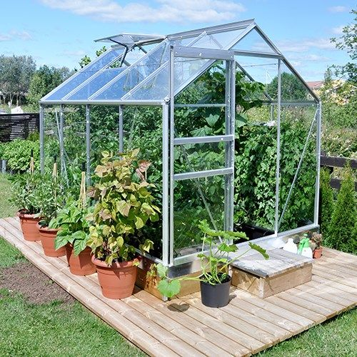 Bruka 5,0 m²  Växthus från skånskabyggvaror.se