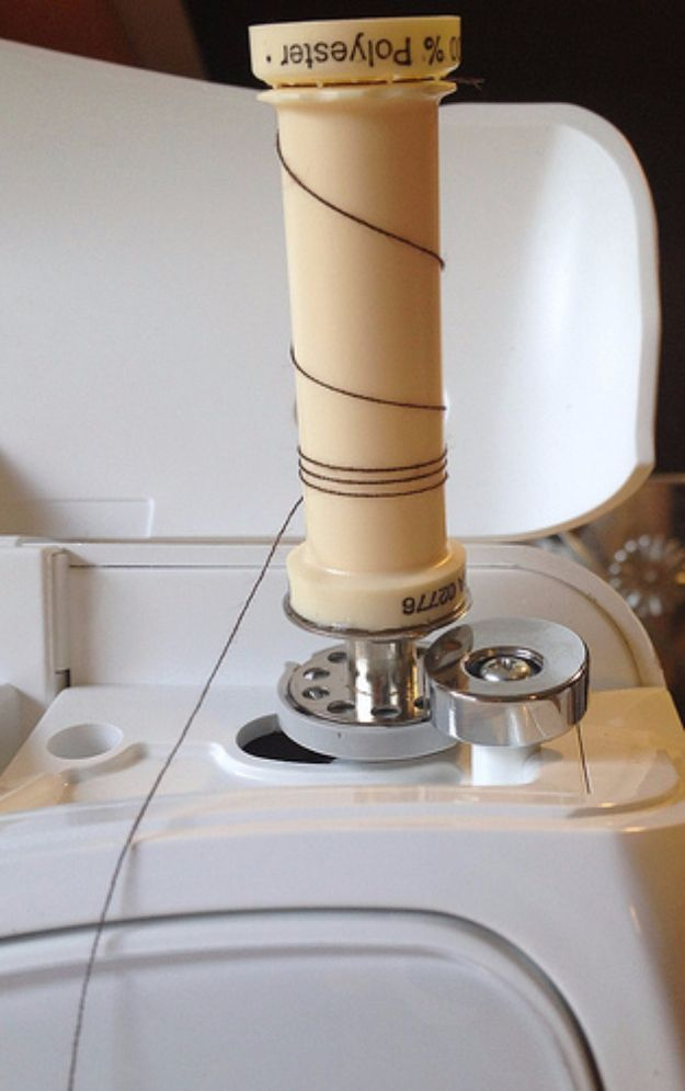 More Sewing Hacks - Serger Thread Hack - Best Tips and Tricks for Sewing Patterns, Projects, Machines, Hand Sewn Items. Clever Ideas for Beginners and Even Experts - Easy Tutorials, Patten Shortcuts and How To http://diyjoy.com/best-diy-sewing-hacks