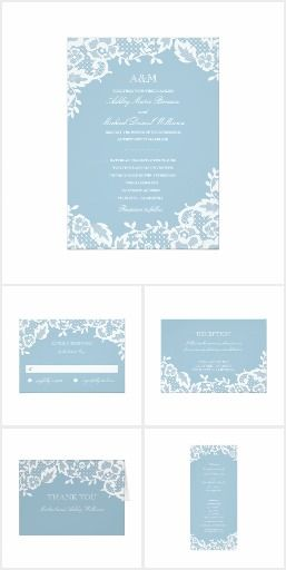 Classic Lace. Classic lace on blue wedding collection  #ad