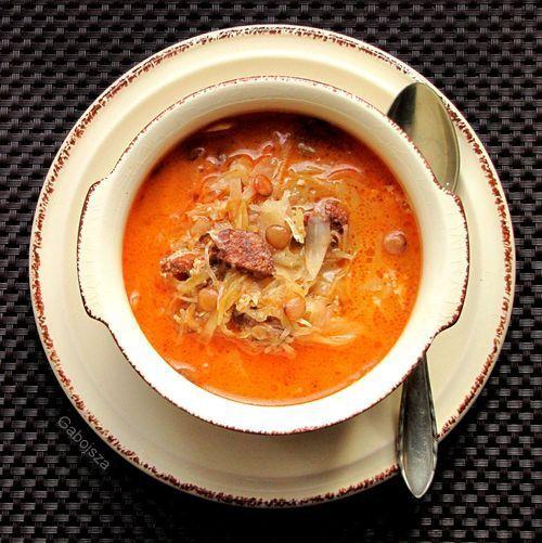 """""""Anya, ez isteni!..."""", avagy Gabojsza konyhája: Lencsés, kolbászos savanyú káposzta leves"""