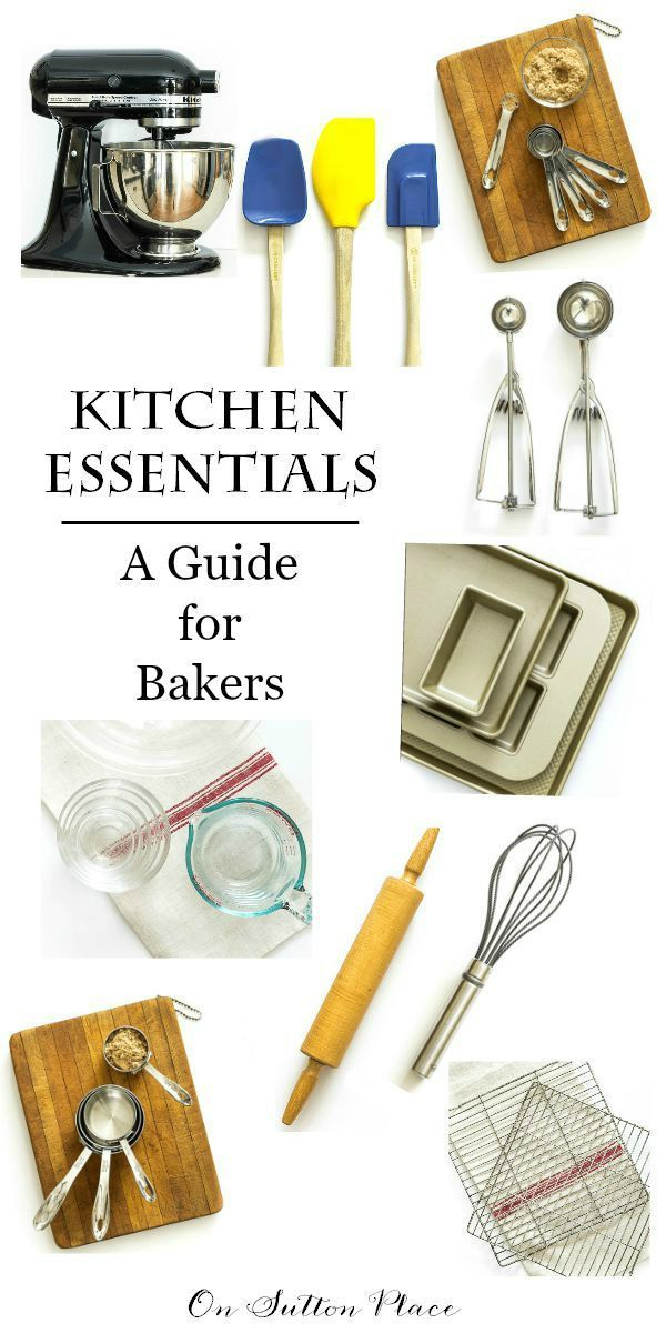A list of must-have, handy kitchen tools every baker needs! Great sources for both new and vintage baking tools. #spon
