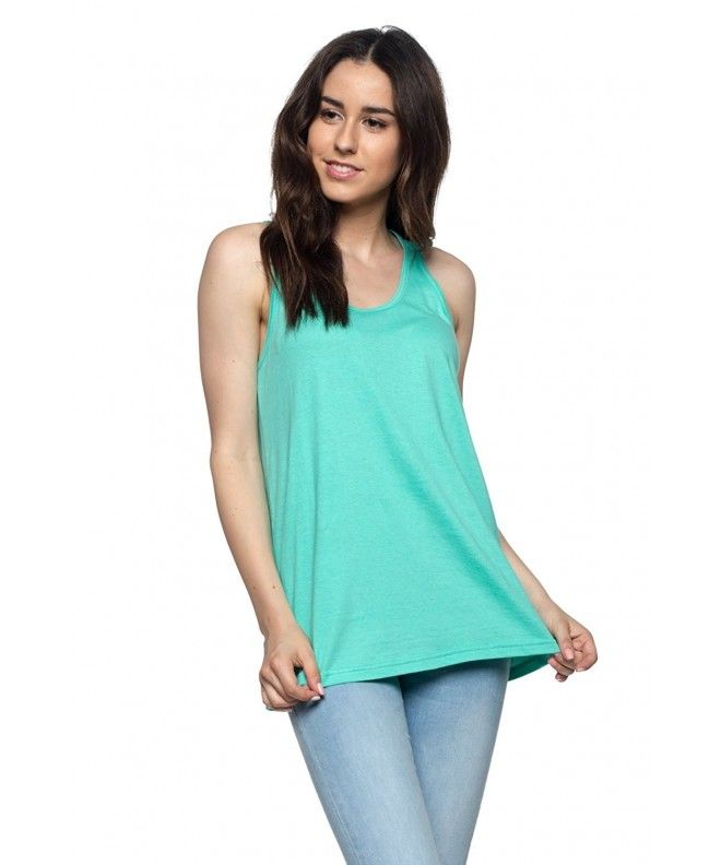 45c0cfcd84ace4 Women s Loose Fit Stylish Tank Top Relaxed Flowy Active Training Cheap  Jersey Yoga Workout - Mint