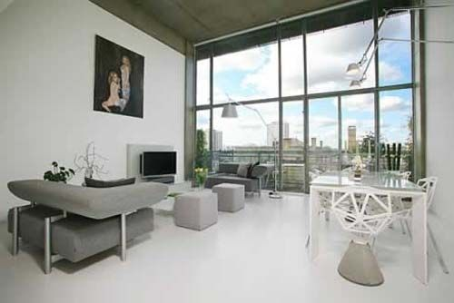 This is contemporary loft decoration in London by London's original loft professional, Urban Spaces.