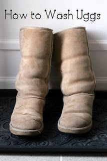 How to safely wash Uggs without bought cleaner! I'm going to be so glad I pinned this!!