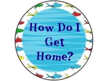 Dr. Seuss Themed How Do I Get Home