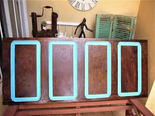 Upcycling - porta antiga - cabeceira