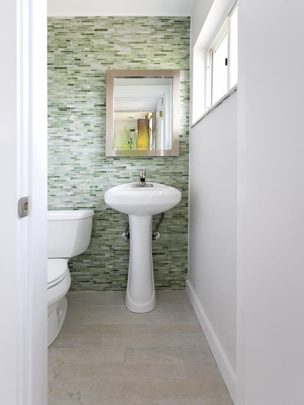 Bathroom with Green Tiled Wall and Tiled Flooring : Designers' Portfolio : HGTV - Home & Garden Television