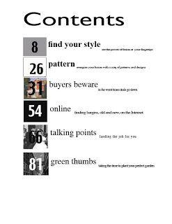 Table Of Contents Design | Unique Productions Print Design : table of contents assignment