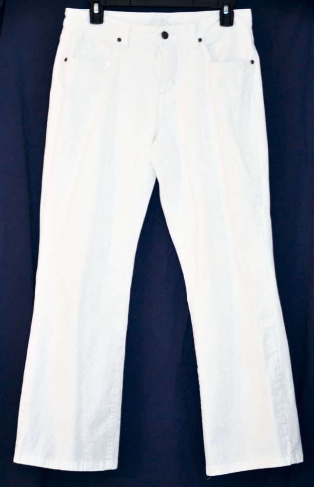 """Smith's Dungarees Women White Boot Cut Jeans size 6 inseam 27"""" #SmithsDungarees #BootCut"""