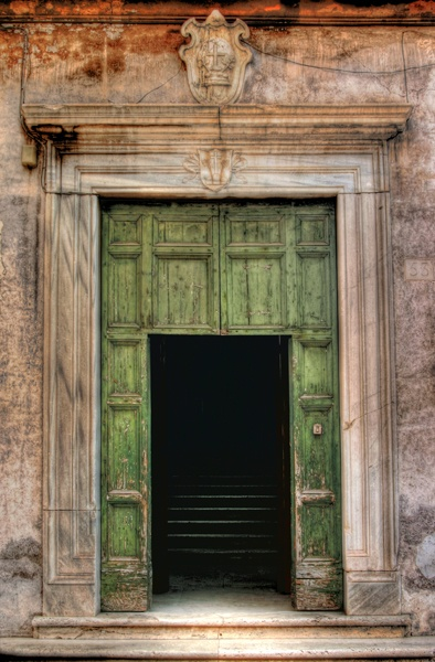 Old doorway near the forum in Rome Italy. Photo by Paul W. Koester.