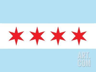 Chicago City Flag Poster Print Poster at Art.com
