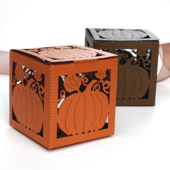 Having an autumn event or wedding? Check out our Lasercut Pumpkin Favor Box by KatBluStudio on Etsy #Wedding #Autumn
