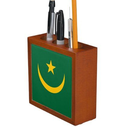 #Mauritania Flag Pencil Holder - #office #gifts #giftideas #business