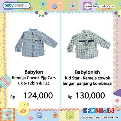 Ini dia kemeja keren dari Babylon untuk anak Anda yang berusia 6 bulan sampai 3 tahun.  Bersertifikat SNI. Gratis ongkir seluruh Indonesia.