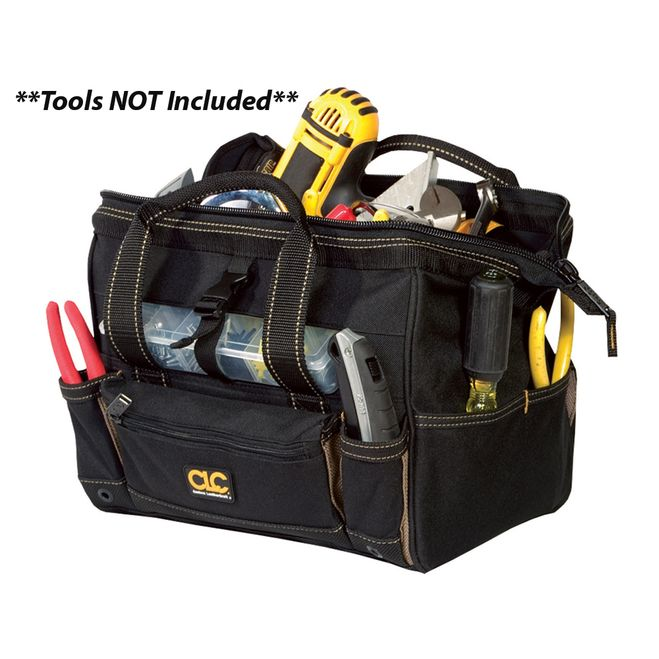 "CLC 1533 12"""" Tool Bag w/ Top-Side Plastic Parts Tray [1533]"
