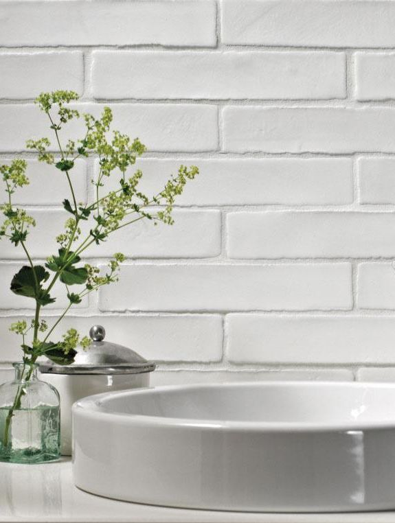 I have these in the kitchen - - - Ladrillo - modern brick tile, handmade in Spain