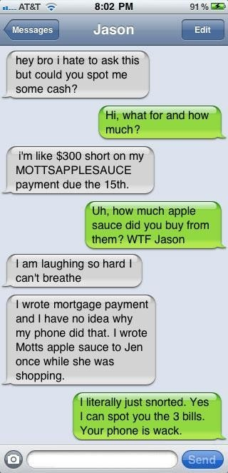 I'm laughing so hard I can't breathe either!!!!!!: Funny Texts, Website, Autos Correction Texts, Web Site, Texts Fails, Internet Site, Funny Stuff, So Funny, Apples Sauces