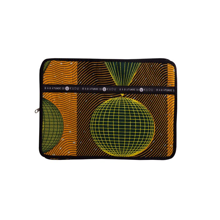 13-inch laptop sleeve Dassa. Offering both style and protection, the Babatunde and Kudu brands have teamed up to bring you this beautifully made, high quality range of laptop sleeves.Stitched in South Africa using traditionalWest African wax-print cotton you will be sure to have the best-dressed laptop in the office!