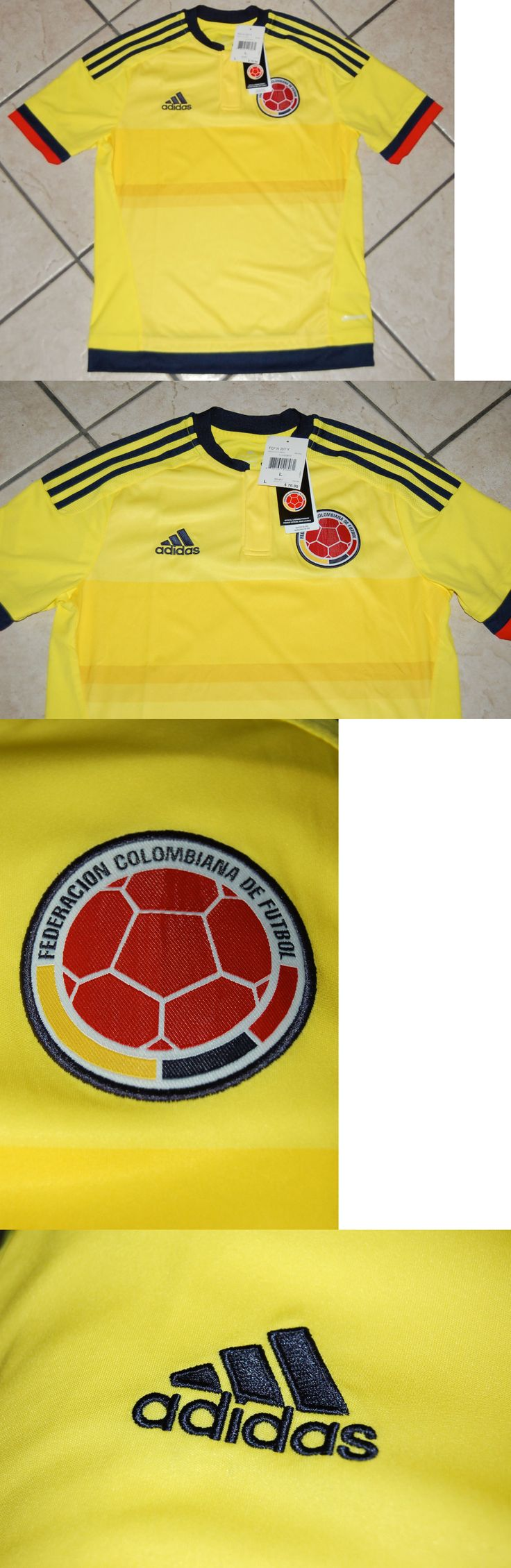 Youth 159099: Adidas Colombia Home Soccer Jersey, M62782, Yellow Navy, Youth Sizes -> BUY IT NOW ONLY: $49.99 on eBay!